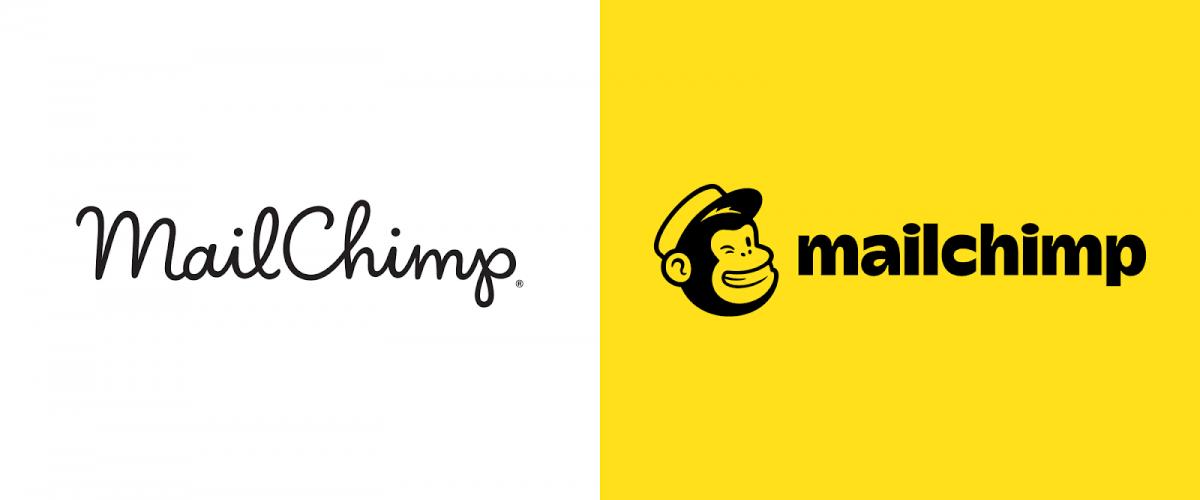 Sans doute le changement de marque le plus approprié : MailChimp classic à gauche, Mailchimp 2.0 à droite. Notez aussi le changement de boîtier ! Source.